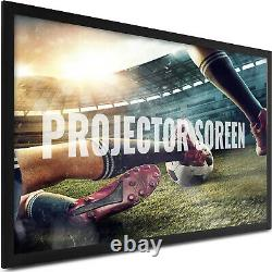 100 Inch Fixed Aluminum Frame Projector Screen Home Theatre HD TV Projection 3D