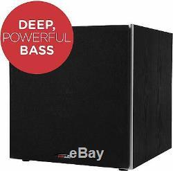 10 Powered Subwoofer Black Bass Polk Amplifier Audio Sound Home Theater Speaker
