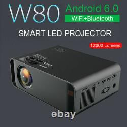 12000 Lumens Smart LED Projector Android WiFi Bluetooth Home Theater Cinema