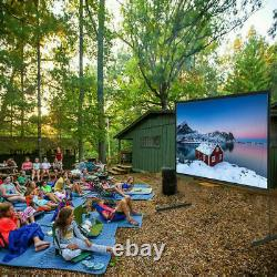 150 Projector Screen with Stand Home Cinema Theater Movie Projection 169 HDUK
