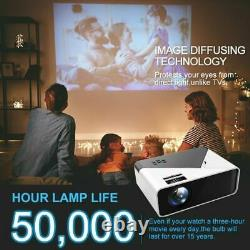 17000 Lumens WiFi Bluetooth Andriod 1080P Projector LED Home Theater Cinema HDMI