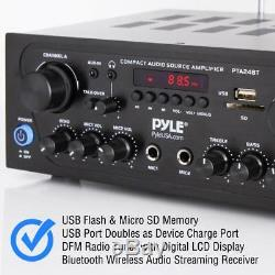 250w 2ch Bluetooth Home Theater Amp Amplifier Audio Receiver Sound System Mp3