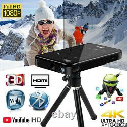4K Smart DLP Android Wifi Projector LCD HD 1080P Home Cinema Theater USB HDMI HD