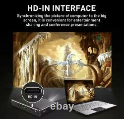 4K Smart DLP Mini Projector Android WiFi Bluetooth 1080P Home Theater HDMI USB