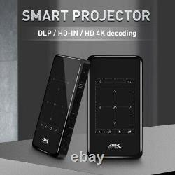 4K WiFi Bluetooth DLP Mini Projector 1+8G HDMI Home Theater Multimedia Android