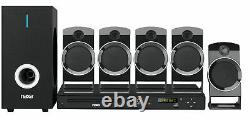 5.1-channel Home Theater DVD & Karaoke System w Subwoofer & 5 Speakers (ND-859)