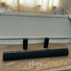 5 channels 100W black KEF HTS7001 & HTF8003 home THEATRE 8000 series SPEAKERS