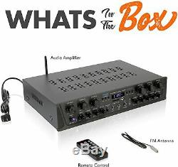 600W 6ch BLUETOOTH AUDIO POWER AMP AMPLIFIER STEREO HOME THEATER RECEIVER SYSTEM