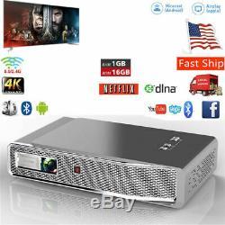 8500 Lumens DLP Wifi 3D 4K Home Theater Projector HD 1080P Cinema HDMI USB RJ45