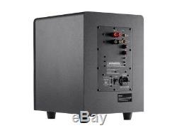 8 200W Premium Home Theater Audio Subwoofer Powered Black 8-inch 200 Watt LFE