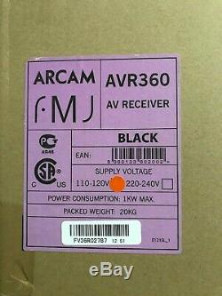 ARCAM AVR360 7.1 HDMI Home Theatre Receiver All Accessories