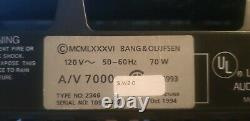 Bang and Olufsen B&O BeoSystem AV7000 Surround Sound Home Theater #8797