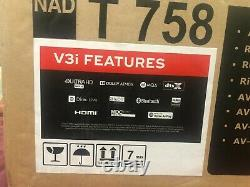 BrandNewSealed NAD T758 V3i Dolby Atmos home theater receiver with BluOs BT WIFI