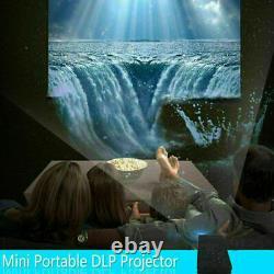 DLP 4K Mini Projector 1080P HD Wifi Smart Bluetooth Home LED Theater Cinema UK