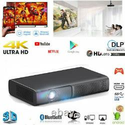 DLP Android 4K WIFI Home Theater Projector 3D 9000Lumen Cinema HDMI USB HD 1080P