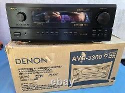 Denon AVR-3300 Dolby Digital Home Theater AV Receiver Black. In Original Box