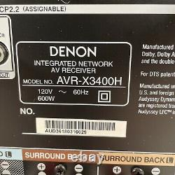 Denon AVR-X3400H 7.2 Channel Home Theater System 4K Atmos DTSX Heos MULTEQ XT32