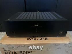 Denon POA-5200 Dual Power Amplifier 2ch Used Home Theater Stereo Amp Two Channel