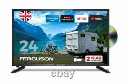 Ferguson F2420RTSF 24 inch Smart LED TV/DVD Download Apps Netflix, Black