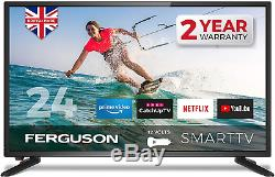 Ferguson F24RTS-12V 24 inch Smart 12-volt LED TV with streaming apps and catch
