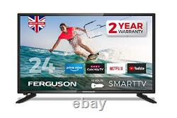 Ferguson F24RTS-12 Volt 24 inch Smart 12-volt LED TV with streaming apps and up