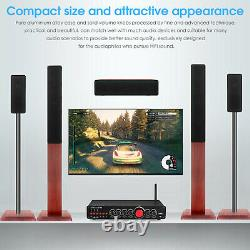 HiFi 5.1 Channel Bluetooth Digital Amplifier USB/COAX/OPT Home Theater Amp LDAC