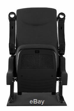 Home Cinema Movie Theater Seat Armchair Sofa Chair Cupholder TV Furniture Black