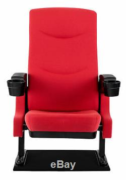 Home Cinema Movie Theater Seat Armchair Sofa Chair Cupholder TV Furniture Red