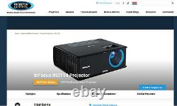 InFocus IN2114 HD Home Theater Projector Network PC 3D Ready (3 Month Warranty)