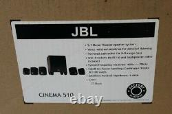 JBL Cinema 510 5.1-Channel Home Theater Speaker System in Original Packaging