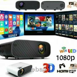 LED Smart Home Theater Projector Wifi 19000 Lumens 1080p HD 3D Movie HDMI USB