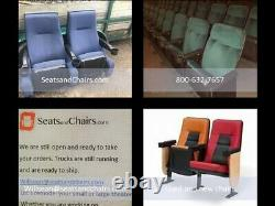 Lot 40 used HOME THEATER SEATING real cinema movie chairs chairs black leatheret
