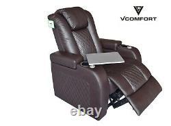 Luxurious Electric Home Theatre Cinema sofa chair Leather Air Recliner armchair