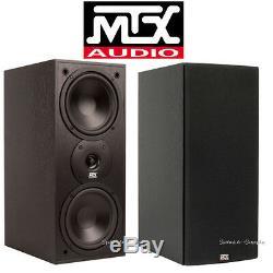 MTX Audio Monitor60i Bookshelf Speaker 6.5 2 Way Loudspeaker Home Theater Pair