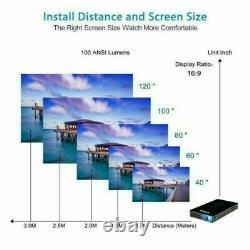 Mini 3000 Lumens DLP Android Wifi Home Theater Projector HD 1080P Cinema HDMI In