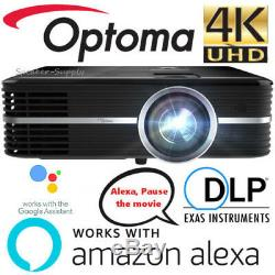 Optoma Smart UHD51ALV Alexa & Google Compatible 4K Smart Home Theater Projector
