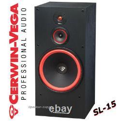 Pair Set Cerwin Vega SL-15 15 3-Way Floor Tower Speaker 400 Watts Home Theater