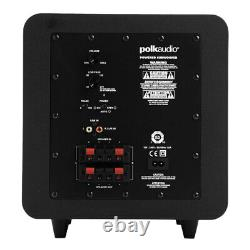 Polk Audio 300W 8 Bass Active Powered Subwoofer Home Theatre Speaker PSW111 BLK
