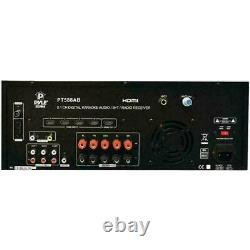 Pyle 5.1 CH Digital Home Theater Receiver With HDMI 3D TV & Bluetooth System NEW