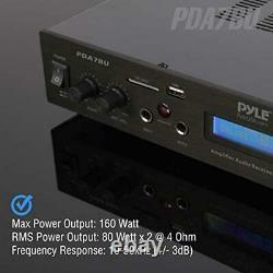 Pyle 5 Channel Rack Mount Bluetooth Receiver, Home Theater Amp, Speaker Amplif
