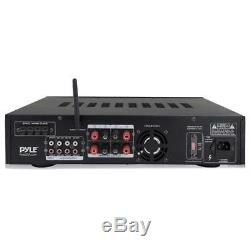 Pyle Bluetooth Hybrid Pre Amp Amplifier Home Theater Stereo Receiver Usb Mp3 Fm