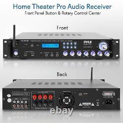Pyle P2001BT 2,000 Watt Multi Channel Bluetooth Home Theater Hybrid Receiver