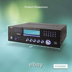 Pyle PD3000BT Bluetooth 4 Channel Home Theater Preamplifier Stereo Sound System