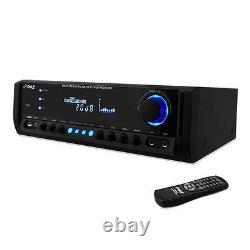 Pyle PT390AU 300W Digital Home Theater Stereo Receiver Input MP3/USB/FM