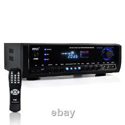 Pyle PT390BTU Digital Home Theater Bluetooth 4 Channel Radio Aux Stereo Receiver