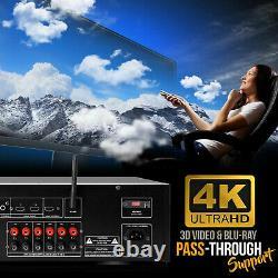 Pyle PT696BT Bluetooth 5.2 Channel 1000 Watt Home Theater Audio/Video Receiver