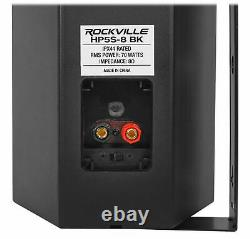 Rockville 1000w Home Theater Bluetooth Receiver+(4) Speakers withSwivel Brackets