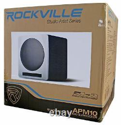 Rockville APM10W 10 400 Watt Powered Home Theater Subwoofer Sub Studio Sound