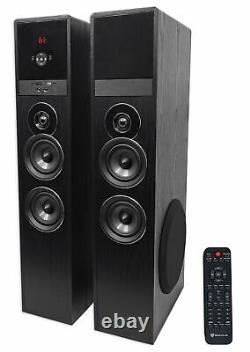 Rockville Bluetooth Home Theater/Karaoke Machine System with(2) Wireless Mics+Subs