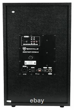 Rockville HOUSE PARTY SYSTEM 10 1000w Bluetooth LED Home Theater Speaker System